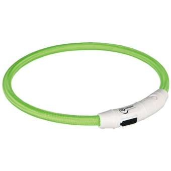 Trixie Flash Leuchtring USB Grün