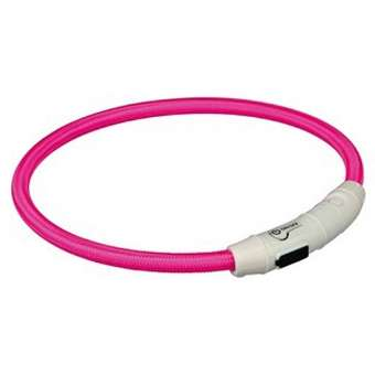 Trixie Flash Leuchtring USB Pink