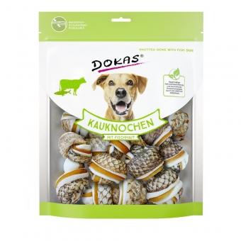 Dokas Hundesnack Kauknochen mit Fischhaut 250g