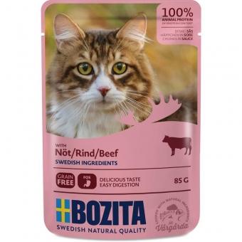 Bozita Pouch Häppchen in Soße mit Rind 85g