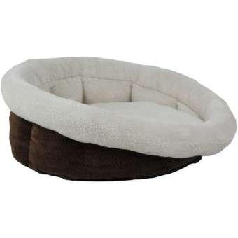 All for Paws Hunde- & Katzenbett mit Fischgrätenmuster - Medium 45 x 45 x 20 cm