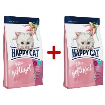 Aktion: Happy Cat Supreme Kitten Geflügel 300g + 300g gratis