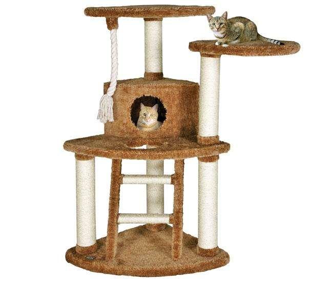 karlie trend line kratzbaum thorben braun teddy stoff ebay. Black Bedroom Furniture Sets. Home Design Ideas