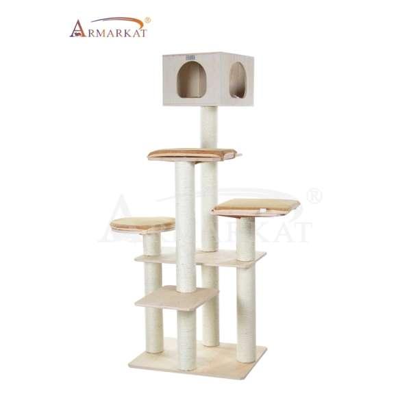 armarkat kratzbaum s7002z aus multiplex holz karamell beige bis 225 cm. Black Bedroom Furniture Sets. Home Design Ideas